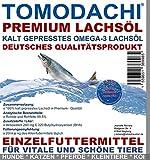 Tomodachi Lachsöl Hund, Barf Zusatz Hund, kalt gepresstes Premium Lachsöl, Naturprodukt, extrem hoher Gehalt an essentiellen Fettsäuren, Omega 3 Lachsöl, Premium Lachsöl für Hunde, 5L Kanister