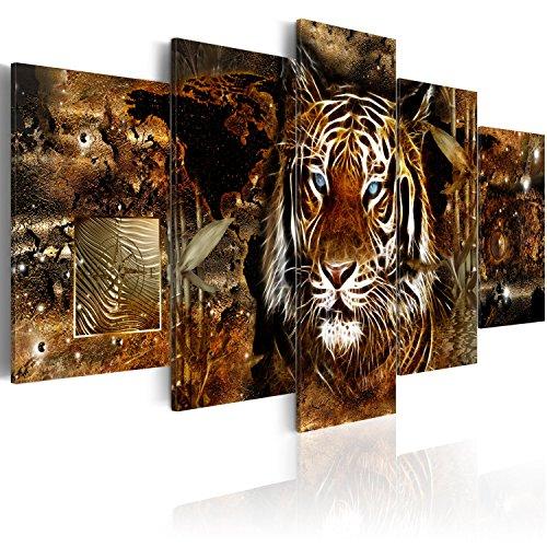 Murando   Cuadro Lienzo 200x100 cm   Tigre Abstracto