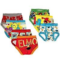 Sesame Street Elmo Set of 7 Toddler Boys' Briefs 2T/3T