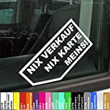 2x nix Karte Verkauf Meins Autoaufkleber Autohändler original decalstore (weiss)