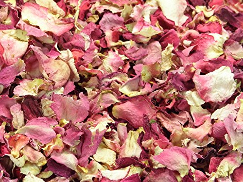 Confeti de pétalos naturales de 1 litro, biodegradable en varios colores.