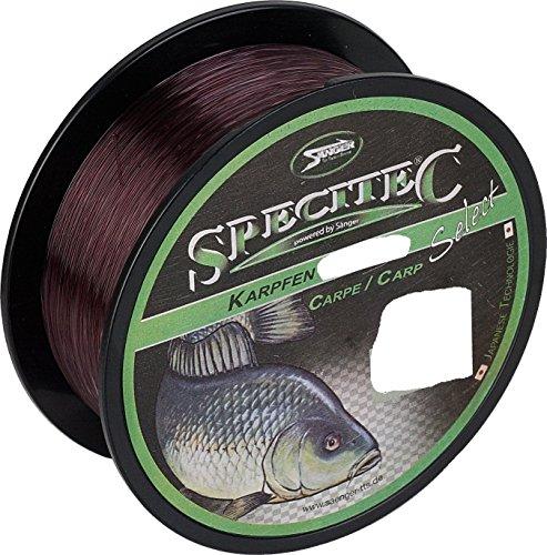 """Specitec """" KARPFEN """" Schnur Ø 0,30mm -Farbe: Camou Brown - Angelschnur monofil Zielfischschnur"""