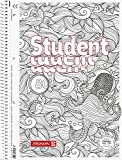 Brunnen 106742801 Notizblock/Collegeblock Student Zenart Motiv Krake, A4, kariert Lineatur 28, 90 g/m², 80 Blatt