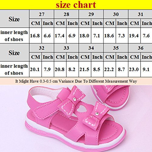 Zhhlinyuan Kids Sweet Cute Bowknot Casual Sandals Summer Baby Girls Princess Shoes white