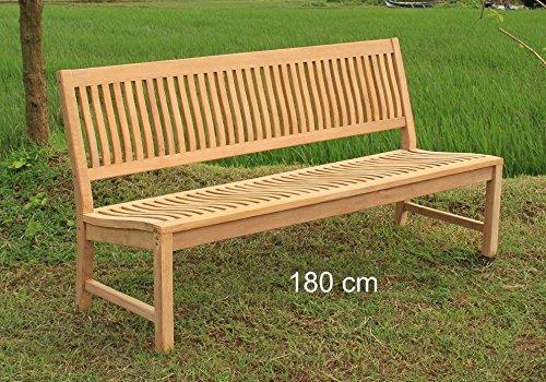 Stabile Gartenbank Kingsbury in Premium Teak ohne Armlehne 180 cm