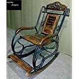 Worthy Wooden & Iron Rocking Chair (Multi-Color)