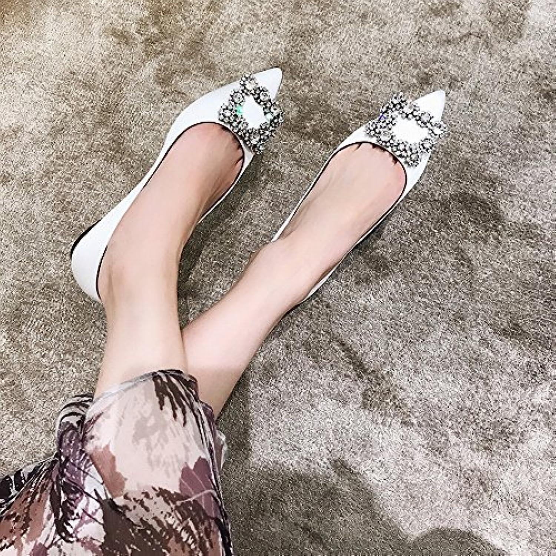 DHG Scarpe Scarpe Scarpe da donna con diamanti dal tacco basso e scarpe basse con temperamento selvaggio,UN,34 | Chiama prima  d3f85c