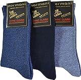 normani 3 Paar Baumwollsocken ohne einschneidenden Gummirand für Damen - auch gut für Diabetiker - Diabetikersocken Farbe Blau Sortiert Größe 39/42