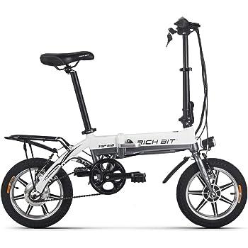eBike_RICHBIT bicicleta eléctrica plegable mini bicicleta eléctrica 250 W 36V 10.2 AH 14 pulgadas aleación de