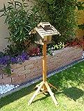 vogelhaus mit ständer, BTV-X-VOVIL4-MS-at001 NEU! PREMIUM Vogelhaus !!! KOMPLETT mit Ständer !!! wetterfest lasiert, MIT großem SILO, Qualität Schreinerware 100% Massivholz - VOGELFUTTERHAUS MIT FUTTERSCHACHT-Futtersilo Futterstation Farbe schwarz lasiert, anthrazit Schwarzlasur / Holz natur, MIT TIEFEM WETTERSCHUTZ-DACH für trockenes Futter