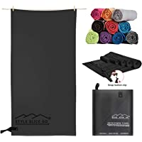 Style Slice Microfibre Towel - Quick dry Lightweight Absorbent Travel Towel for Sports Beach Gym Swimming Camping Hiking…
