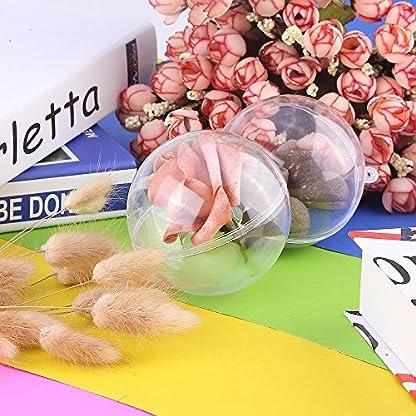 Uten 20 x Bolas de Navidad Forma Redonda Plástico Transparente para Decorar el arbol de Navidad no Incluye Cuerda (5CM)