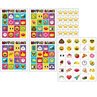Party Central Pack of 60 Vibrantly Colored Show Your Emojis Smiley Theme Bingo Game 8.5""