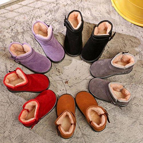 Suede Neige Bottes Enfants Chaussures Chaud, QinMM Hiver Mode Enfants Filles GarçOns Pantoufles