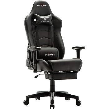 Ficmax Chaise Gaming Ergonomique De Massage Fauteuil Bureau Pro Gamers Avec Repose