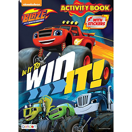 Blaze And The Monster Machines In It To Win It! Coloring And Activity Book With Stickers