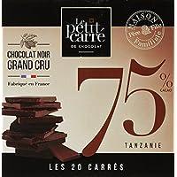 Le Petit Carré de Chocolat Boîte de 20 Carrés 75% Tanzanie 100 g - Lot de 9