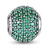 Glamulet argent sterling 925Serties de pierre porte-bonheur Charm Perle en cristal pour bracelet Pandora