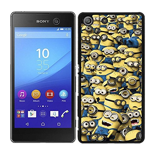 FUNDA CARCASA PARA Sony Xperia M5 DISEÑO DIBUJO MINION MINIONS AMARILLO MOD.