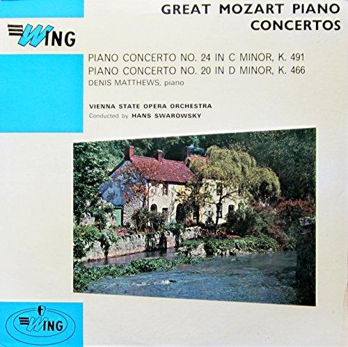 Great Mozart Piano Concertos No. 24 in C Minor, K. 491 & No. 20 in D Minor, K. 466 (Klavierkonzerte) [Vinyl LP] [Schallplatte]