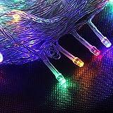 YOEEKU 100 LED feux clignotants à cordes décorations de Noël 10M étoiles chaîne lumières de Noël mariage plein étanche à l'eau (Couleur)