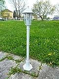 Dapo Leuchten Aluminium Stehleuchte Kingston, weiß für den Außenbereich Wegeleuchte Gartenbeluchtung
