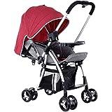 BABY PLUS BP8291 Baby Stroller Cum Pram, 0-36 Months - Red, BP8291-RED