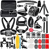CulturesIn 50-in-1 Accessori Kit per HeroPress Hero Hero Session / 5 Hero 1 2 3 3+ 4 5 SJ4000 5000 6000 Lightdow Campark E Sony Sports DV e più con custodia / Cinturino / Octopus Tripod immagine