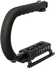 Aspiredeal Universal Stabilizer C-Shape Bracket Video Handheld Grip fit for Canon Nikon DSLR DV Camera Black