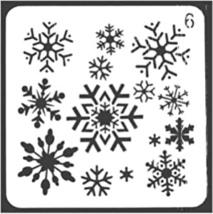 Sleigh Cart Patterns DIY Plastic Printing Stencil Molds Template 13 * 13cm Scrapbook for Photo Album Stamping Spray Craft Lorsoul Christmas Series