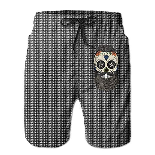 9775dd72e4036 XIAOYI Old Man Skull Quick-Drying Men's Shorts Surf Pants Swim Trunk Hot  Beach Boardshorts Hot Swimming Trousers Board Shorts with Pockets - L
