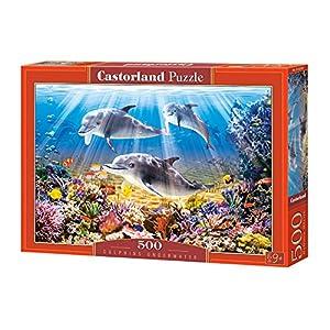 CASTORLAND Dolphins Underwater 500 pcs Puzzle - Rompecabezas (Puzzle Rompecabezas, Flora & Fauna, Niños y Adultos, Niño/niña, 9 año(s), Interior)