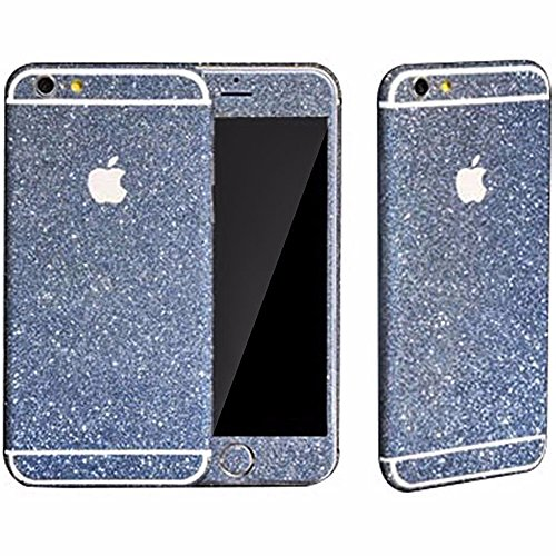 Heartly Sparking Bling Glitter Crystal Diamond Protective Film Whole Body Phone Skin Sticker For Apple iPhone 5 5S 5G / iPhone SE - Light Blue