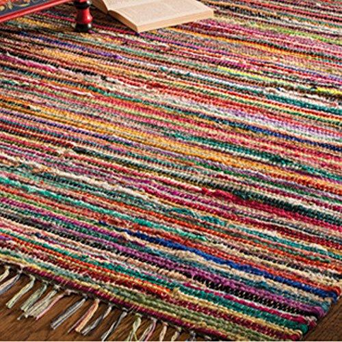 fair trade teppiche Fair Trade Flickenteppich, handgemacht, aus indischer 100% recycelter Baumwolle, bunt, Textil, multi, 120 x 180 cm