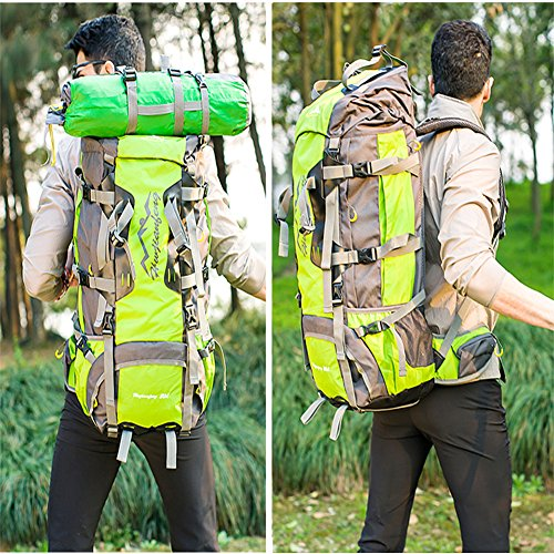 Imagen de  de 80l, ideal para deportes al aire libre, senderismo, trekking, camping travel, escalada. bolso impermeable del alpinismo, daypacks que suben del recorrido, ,  80l naranja  alternativa