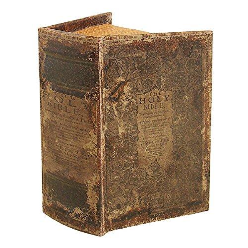 zeitzone Hohles Buch mit Geheimfach THE HOLY BIBLE Buchversteck Bibel 15x10x6cm