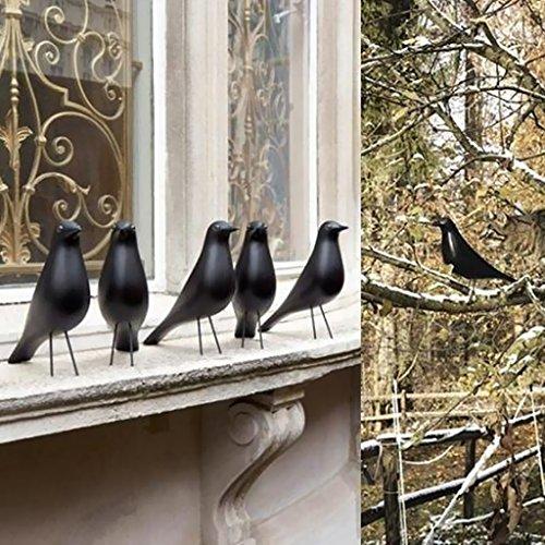 Land-schwarzes Finish (FutuHome Großer Harz Stehender Vogel Ausgangsverzierungs Garten Yard Land Lawn Decor - Schwarz)