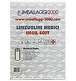 immagine prodotto Imballaggi2000 Rotolo Carta Lettino 6 pz Lenzuolino Lenzuolini Medici massaggio medico 75 metri altezza 60 2 veli