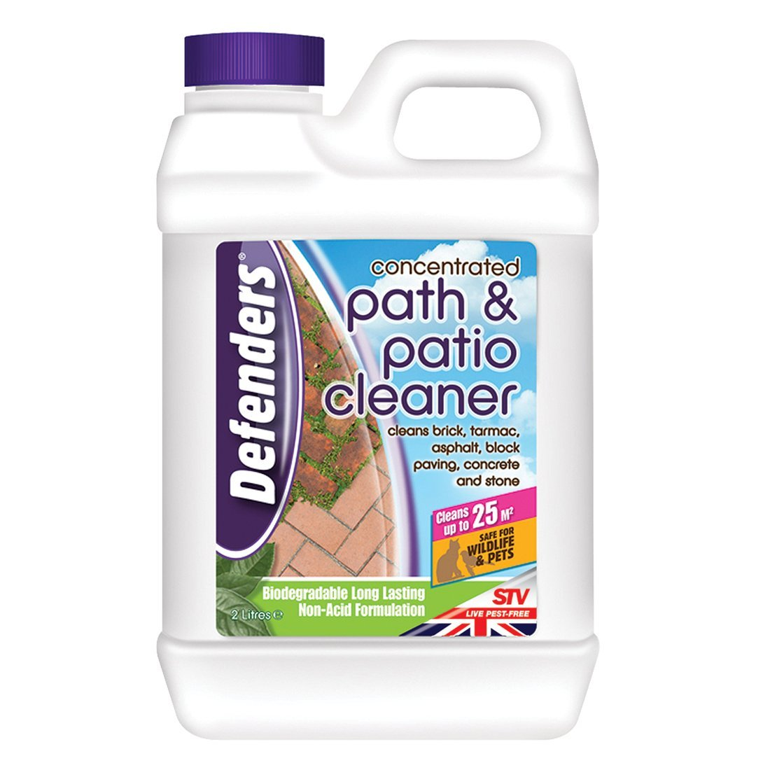 Perfect Defenders Concentrated Path And Patio Cleaner (Non Acid Formulation, Cleans  Paving In Garden Areas, Treats Up To 25 Sq M), 2 L: Amazon.co.uk: Garden U0026  ...