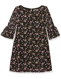 Yumi Floral Printed Lace Funnel Sleeve, Vestido para Niñas
