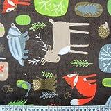 Wald Tiere/braun Cuddle Fleece Super Weich &