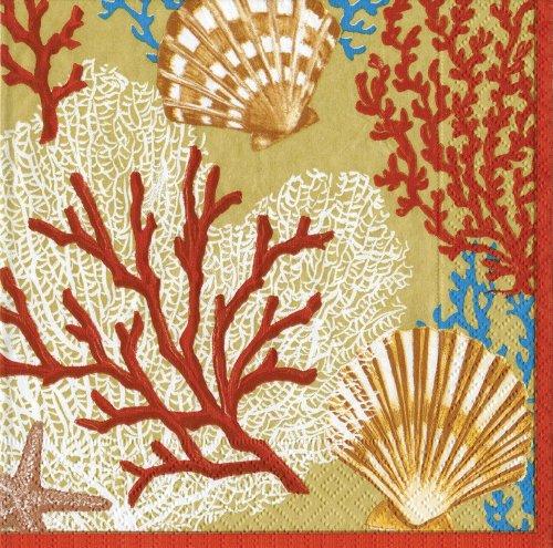 caspari-lot-de-20-serviettes-de-table-en-papier-motif-palm-beach-dore