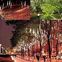 Victorstar @ 50CM 10 Tubos 600 LED lluvia de Meteoritos Luz / Nevadas luz / Nevadad Luz para Fiesta, Boda, Navidad, Paisaje de la Decoración - Lados Dobles Iluminación Impermeable IP65 (Luz Blanca)