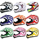 Leopard LEO-X17 Casco da Motocross per Bambini Cross e Off-road...