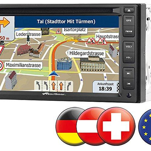 "NavGear Doppel DIN Navi: StreetMate 2-DIN-Autoradio mit 6""-Navi DSR-N 62 Europa (2 DIN Festeinbau Navi Autoradios)"