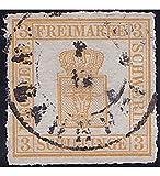 Goldhahn Mecklenburg-Schwerin Nr. 7 I gestempelt Geprüft Briefmarken für Sammler