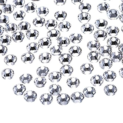 Outus 1440 Pack Clear Flat Back Rhinestones Round Crystal Gems, 4.8 mm