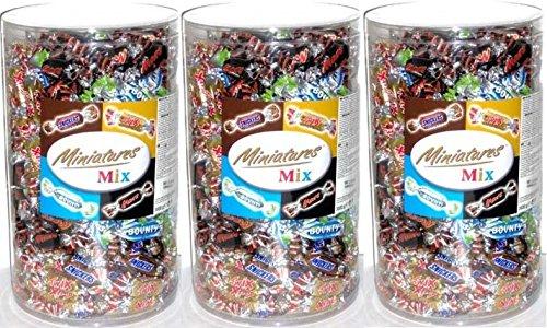 Preisvergleich Produktbild 3 x MINIATURES MIX MARS TWIX SNICKERS BOUNTY MINIS RIEGEL 3000g