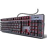 Krom Teclado Gaming Kernel -NXKROMKRNL - Teclado mecanico numerico, iluminacion LED RGB, 9 Efectos iluminacion, silencioso, L