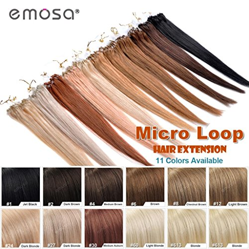 22inch Emosa Stick Micro Loop Straight Human Hair Extensions 50g 100strands #613 Blonde